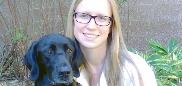 allison o'kell dvm and her dog